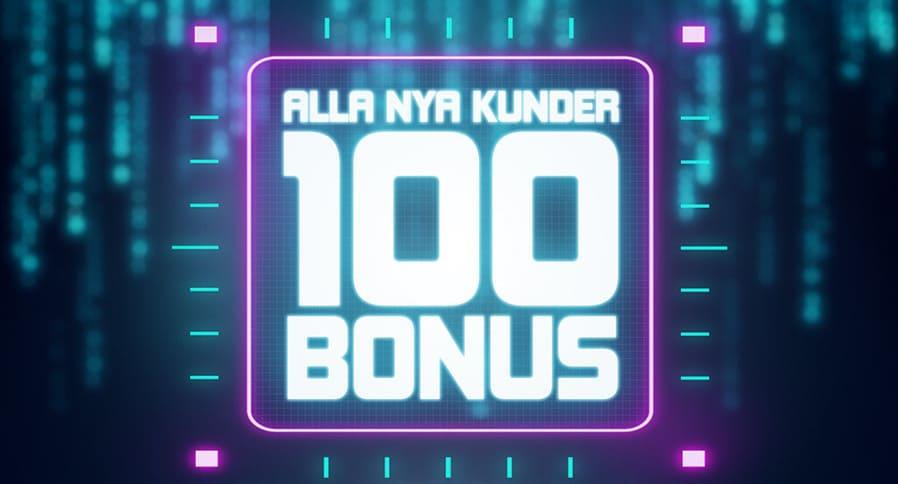 100 kr bonus - No deposit bonus